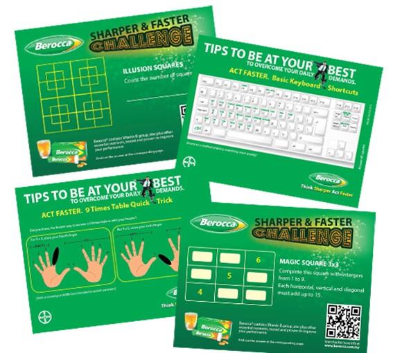 Bayer Berocca game cards
